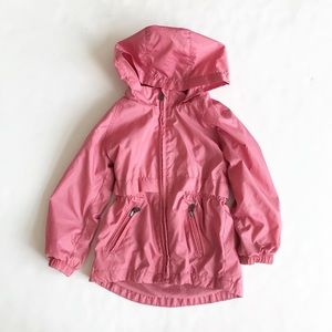 Old Navy mauve lined light hooded jacket GUC  4T